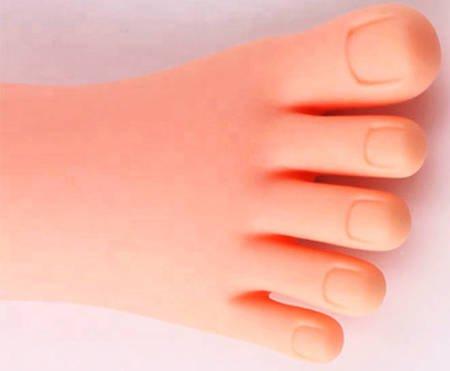 Gumowa stopa do ćwiczeń kosmetyczna do nauki pedicure-prawa