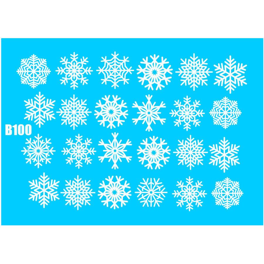 Naklejki wodne świąteczne B100