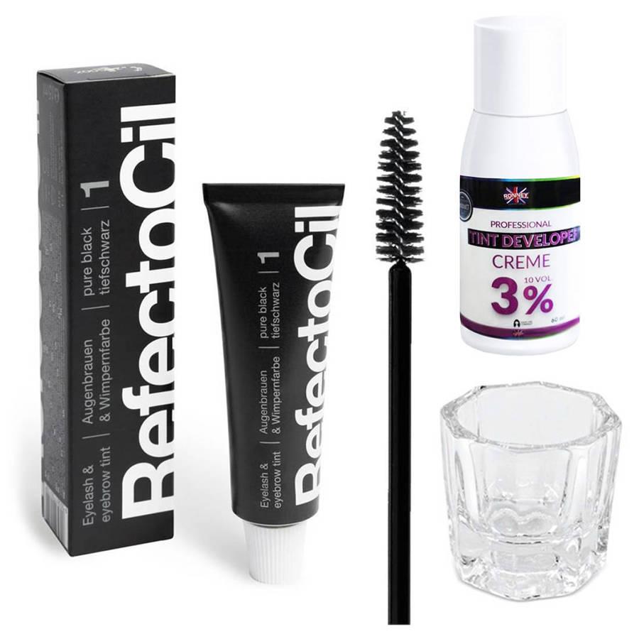 Zestaw henna Refectocil + woda Profi Pil + kieliszek + szczoteczka I3